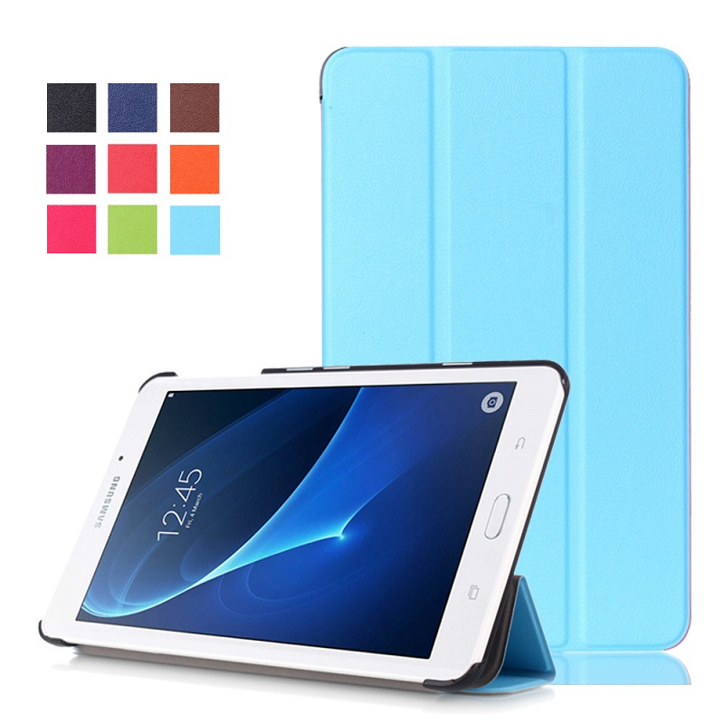 Tablet Case for Samsung T280, Tri-fold Bracket Smart PU Leather Sleeve for Samsung Tab A 7.0 T280 T285 PC Back Cover Case