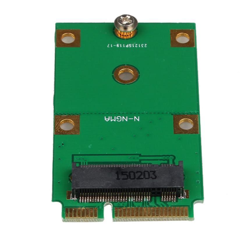 MOSUNX Futural Digital  Hot  Mini PCI-E 2 Lane M.2 NGFF 30mm 42mm SSD To 52pin mSATA Adapter Card  Drop Shipping F35 factory price mosunx 2 in 1 mini pci e 2 lane m 2 and msata ssd to sata iii 7 15 pin adapter drop shipping drop shipping