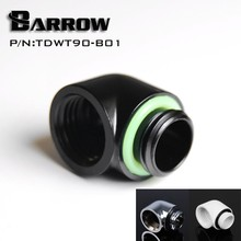 Barrow TDWT90-B01 90 Degree Male to Female Angle Fitting with G1/4'' Silver/Black/White/Gold Options(China)