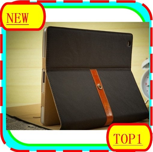 50pcs/lot Design Leather Case Bag For The New ipad,Fashion Business Case For ipad3 Stand Protective Cover For ipad 3 Wholesale