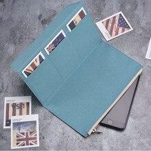 Olive Green Canvas Zipper pocket For Genuine Leather Notebook Accessory Standard Regular size paper card holder