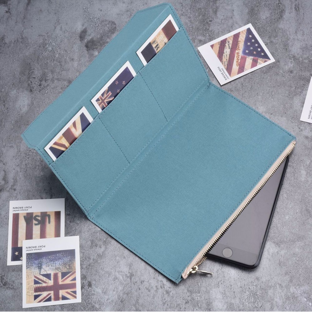 Olive Green Canvas Zipper pocket For Traveler's Notebook Accessory Standard Regular size paper card holder storage bag