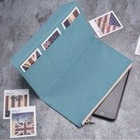 Canvas Zipper pocket For Genuine Leather Notebook Accessory Standard Regular size paper card holder storage bag