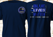 цены 2019 Fashion Double Side Blue Lives Matter United States Us Police Navy Military Army Navy T Shirt Unisex Tee