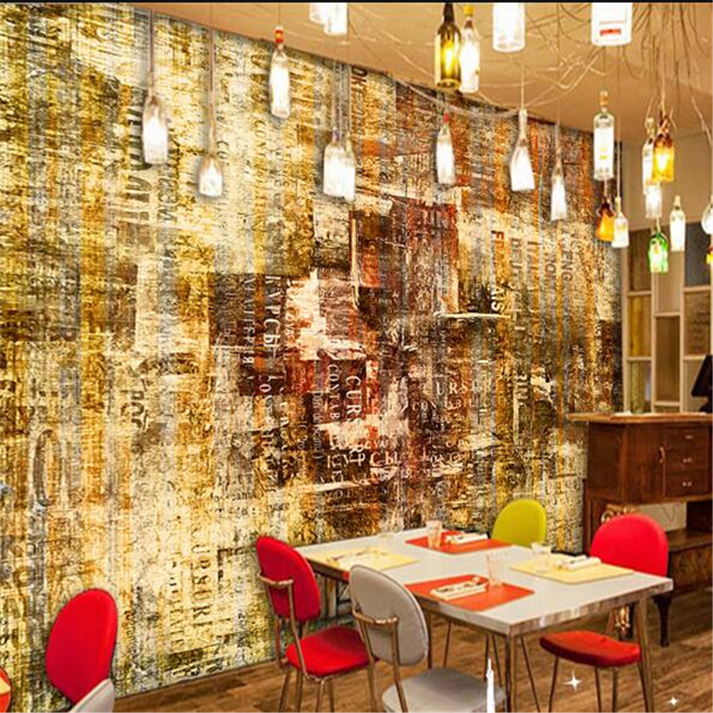 Buy beibehang custom 3d graffiti for Cafe mural wallpaper