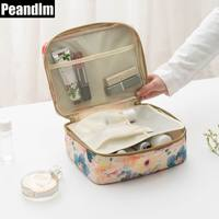 PEANDIM Professional Women Makeup Bag Waterproof Cosmetic MakeUp Pouch Travel Toiletry Kit Home Toilet Wash Organizer