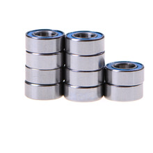 High Quality 10PCS 5x10x4 mm metel MR105-2RS Miniature Ball Bearings Rubber Sealed Ball Bearing 2pcs rubber sealed 440 stainless steel hybrid ceramic ball bearings s6803 6803 2rs 17 26 5mm si3n4 bike part