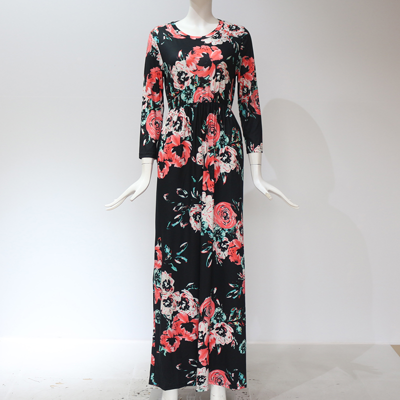 19 Summer Long Dress Floral Print Boho Beach Dress Tunic Maxi Dress Women Evening Party Dress Sundress Vestidos de festa XXXL 15