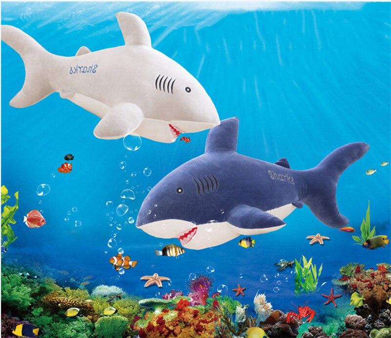 New Style Shark Plush Toys Big Fish Cloth Doll Whale Soft Stuffed Plush Animals Doll Children Birthday Gift 12