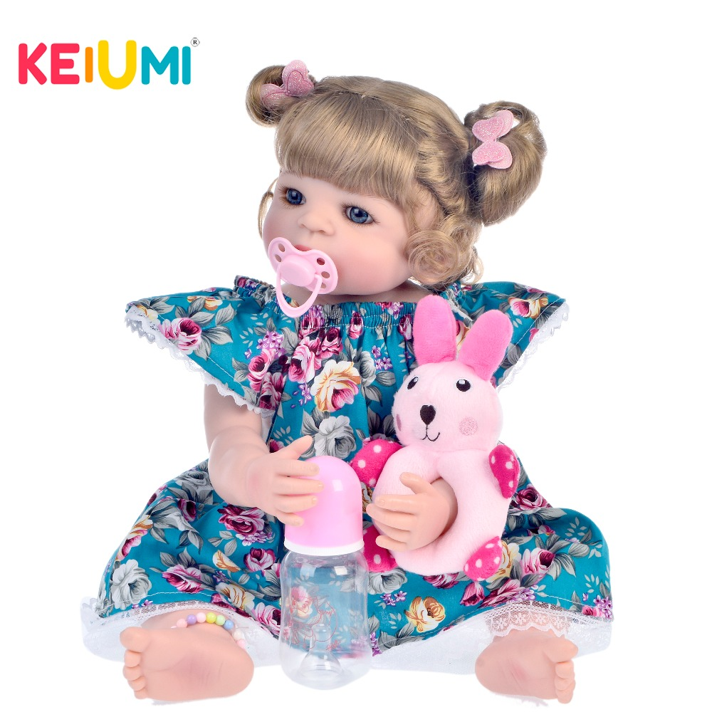 New Style 22 55 cm Silicone Full Body Reborn Dolls Realistic Newborn Girl Babies Doll With