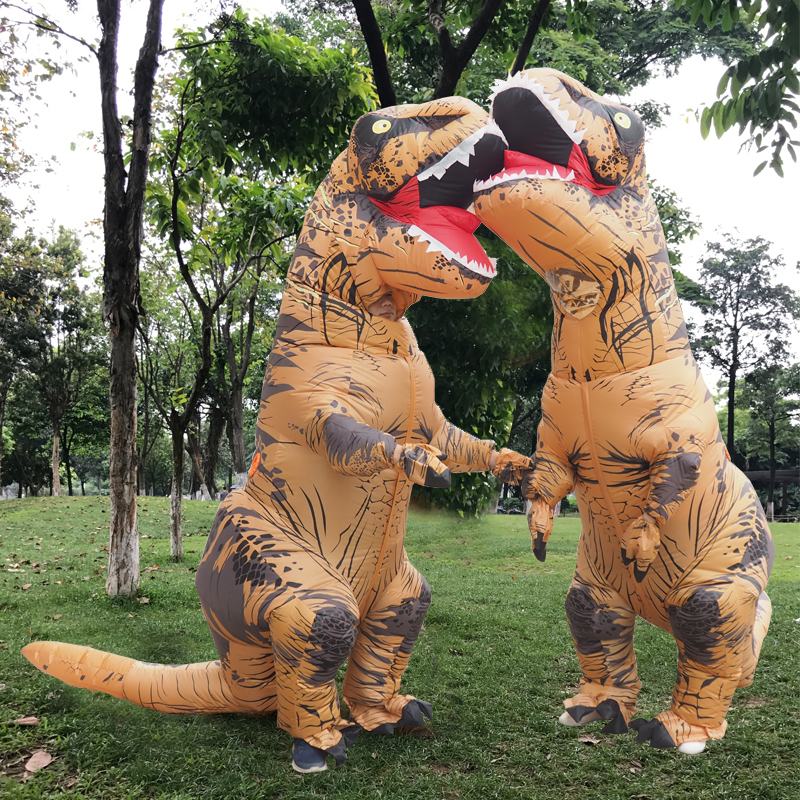Inflatable T Rex Costume For Adult Kids Halloween Polyester T Rex Dinosaur Costume For Woman Men Anime Fantasy Dinosaur Suit