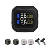 M3 Waterproof Motorcycle Real Time Tire Pressure Monitoring System TPMS Wireless LCD Display External Sensors