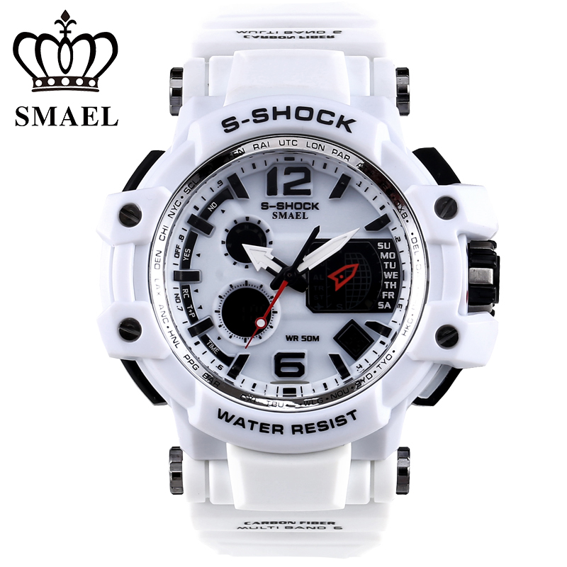 SMAEL Men s Watches Digital LED Backlight Fashion Original Casual Automatic Date Male Clocks Electronic Genuine