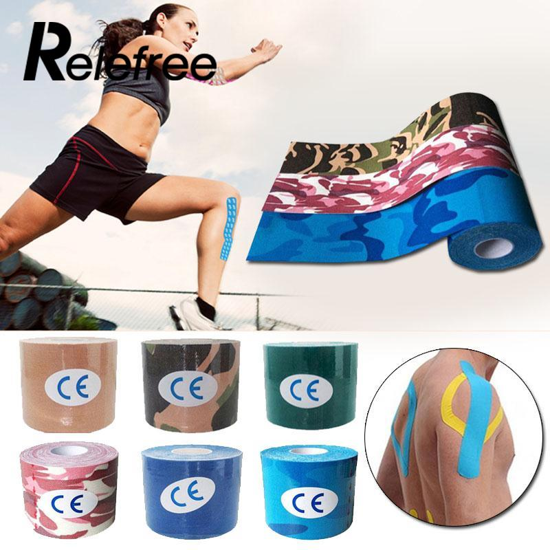 Relefree 2.5cm*5m Elastic Cotton Roll Adhesive Sports Injury Muscle Strain Protection Tapes First Aid Bandage Support
