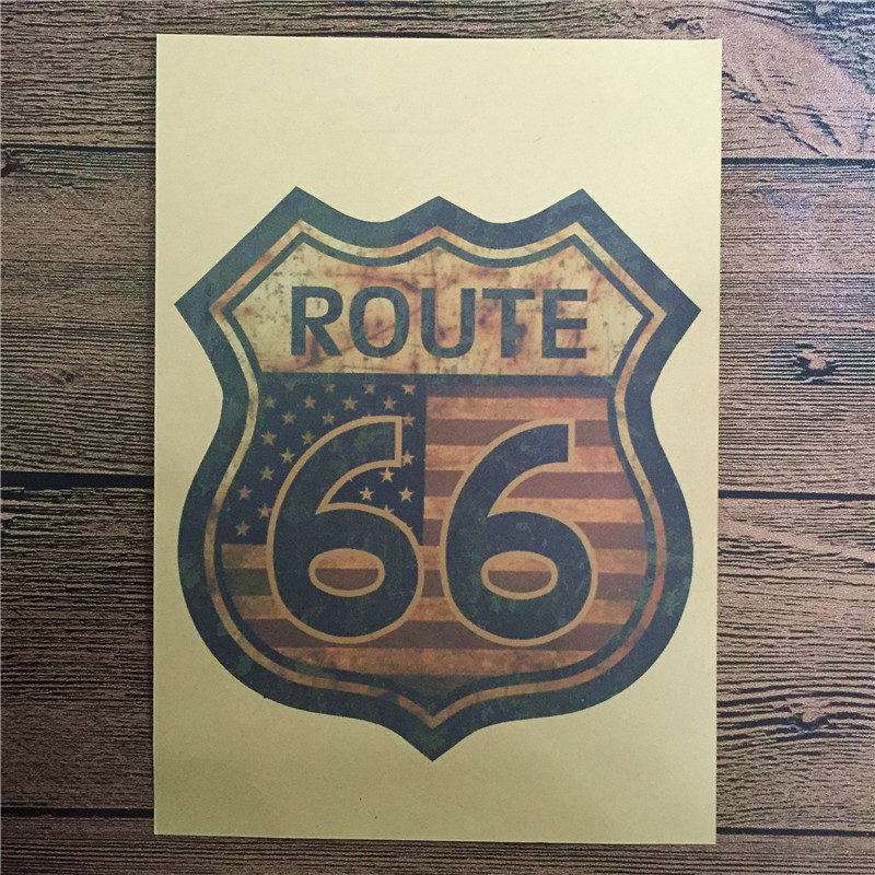 NEW 2016 DC-043 home decor United States 66 cuadros decoratives painting vintage poster kraft paper for living room 42x30 cm