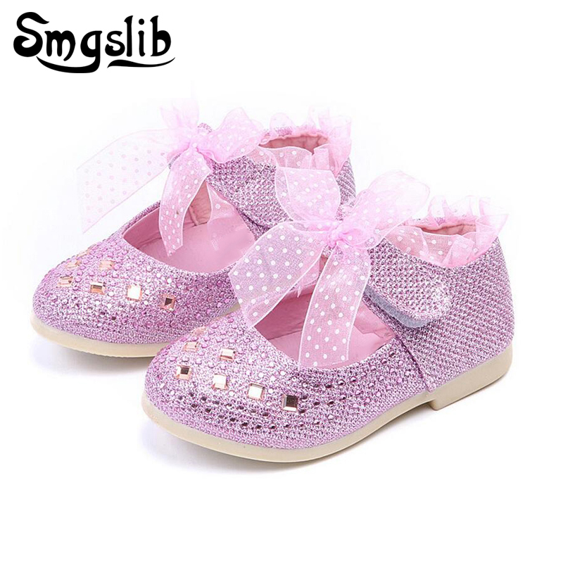 Personalized Wedding Slippers Bridal Party Slippers: Children Shoes Girls Rhinestone Lace Princess Single Girls