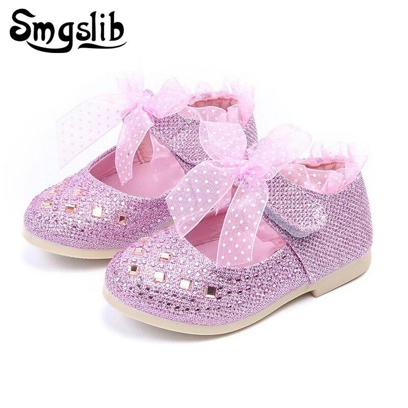 Niños Zapatos Niñas rhinestone encaje princesa Niñas Zapatos para ...