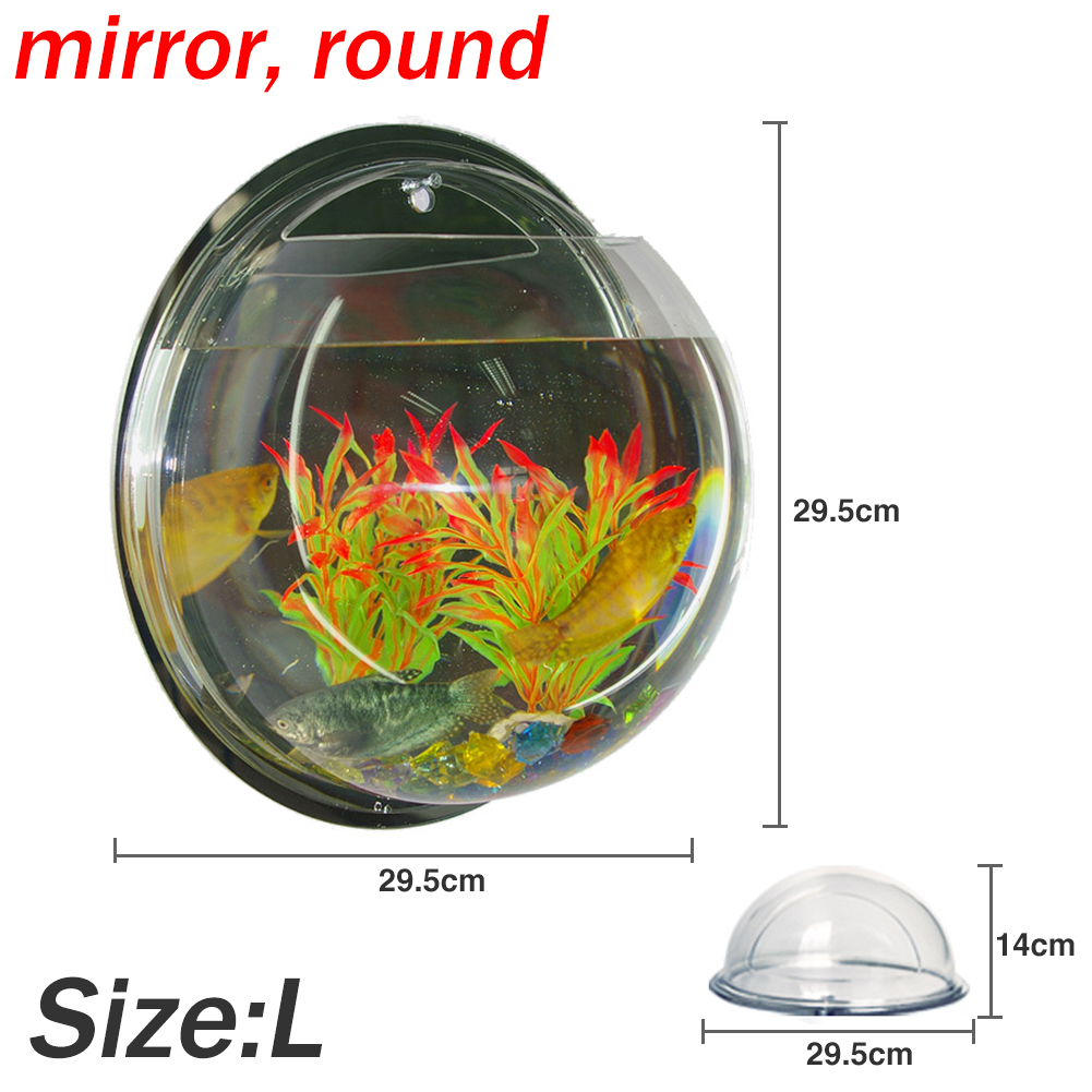 Aquarium fish tank sizes - Size L 400ml About 29 5x29 5x14cm Wall Mount Hanger Fish