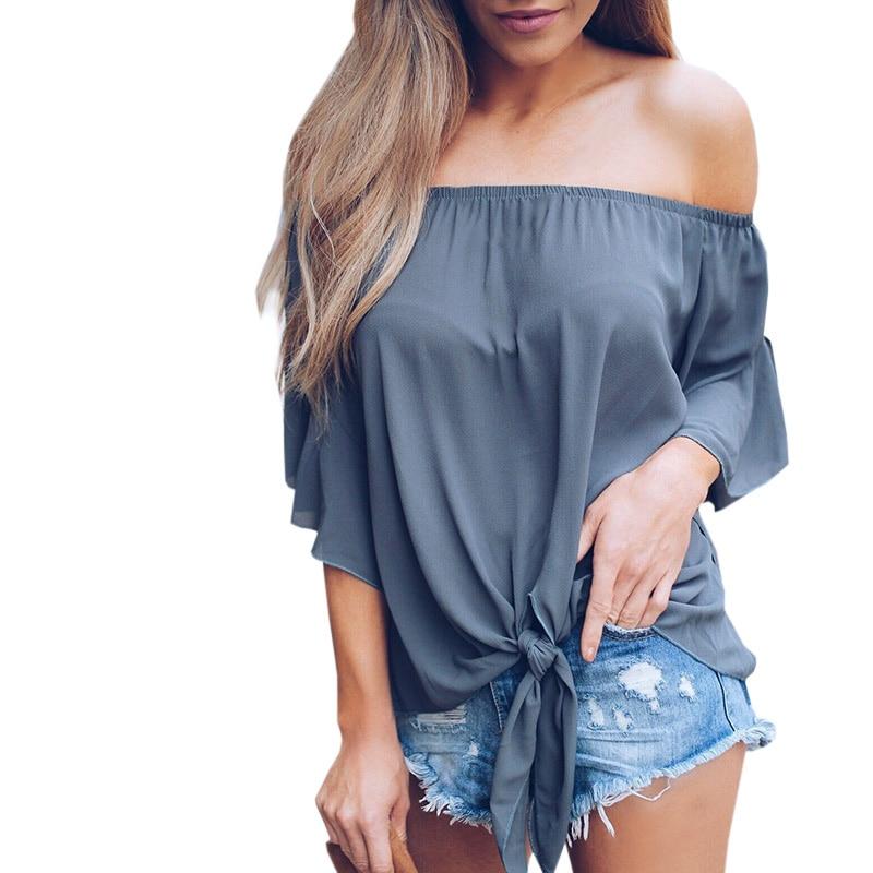 Suelta Manga Camiseta yw Causal Bk wt Blusa Hombro Para Tops Vendaje Frío Up Sexy gy Lace Sin Las Mujeres Camisa Algodón Tirantes TvZB1nq