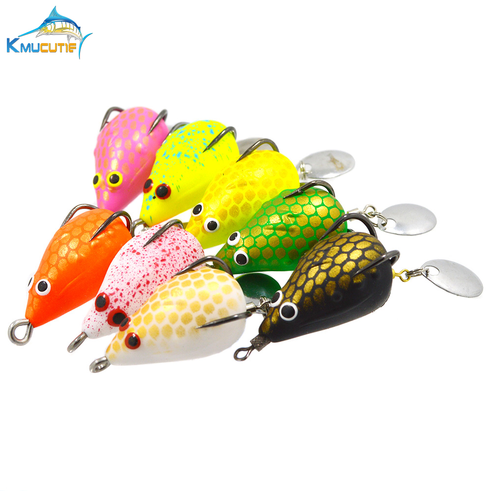 5g 35mm Soft Frog Fishing Lures 8 colors Snakehead Top Water Baits With Hook