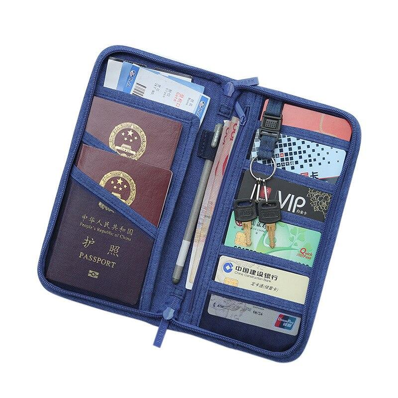 QEHIIE passport package travel Passport cover Boarding Ticket passport holder credit card Card package file multi-pocket bag