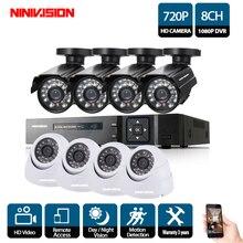 P 720 P 1080 P CCTV системы видео регистраторы 8 шт. 2000TVL охранных 1.0MP Открытый водонепроницаемый ночное видение камера наблюдения наборы