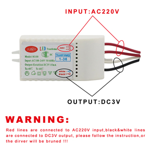 Image 5 - 1 80pcs Led Electronic Transformer 220V To DC3V Low Voltage LED Controller Power Supply LED Driver 15mA For Light Emitting Diode