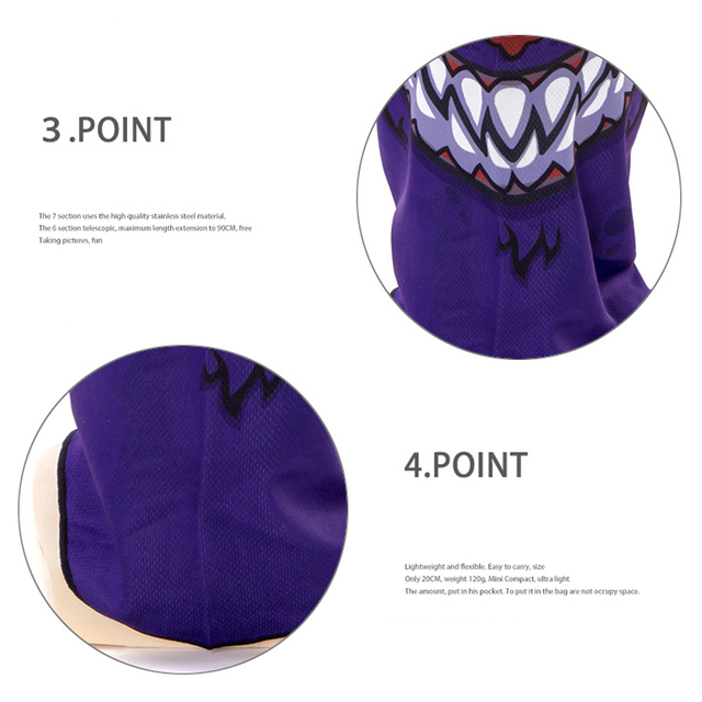 1pcs 3D Outdoor Sport Creative Mask Anti-UV Bicycle Riding Face Scarf Scarves Breathable Headband Protect Full Face Mask 2