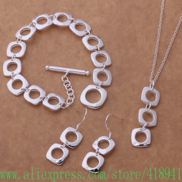 42670058f8df 925 plata esterlina Juegos de joyería pendiente 513 + el collar 239 +  bracelet 163 ejqanaxa bksakbza as352