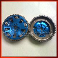 2PCS 5 Bolt Adjustable Cam Gear Pulley For Nissan RB20 RB25 RB26 Blue