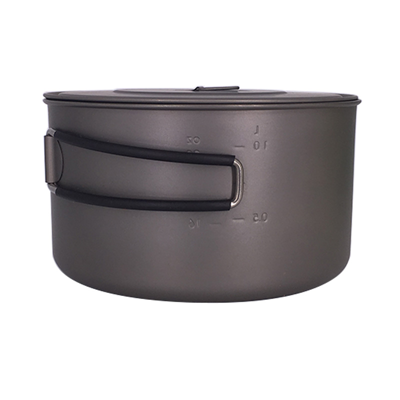 TOAKS Outdoor Camping 3 in1 Titanium Pot 1350ml Ultralight Portable Titanium Bowl Cup Pot With Lid Handle toaks pot 1350 ultralight titanium 1350ml pot with bail handle outdoor camping tableware