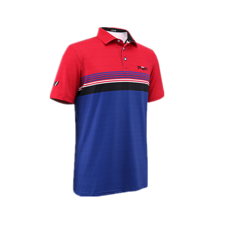 2017 PGM new golf men's clothing POLO shirt quick dry breathable fabric soft game with the paragraph   4 color#059 цена 2016