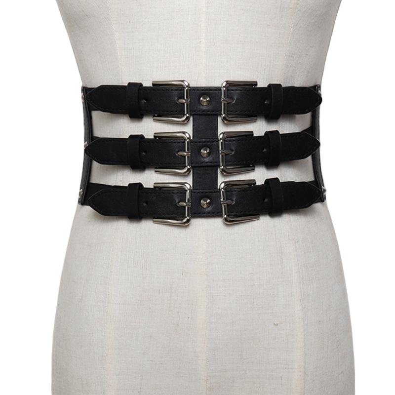a2f73e29 Nuevos cinturones de cuero ultradelgados para mujer corsé ceñido cuerpo  vintage imitación cuero diseño retro correa elástica corsé adelgazante