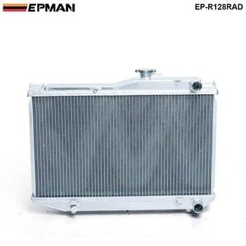 For Toyota Corolla AE86 83-87 MT Aluminum 2 Row Dual Core Aluminum Radiator EP-R128RAD