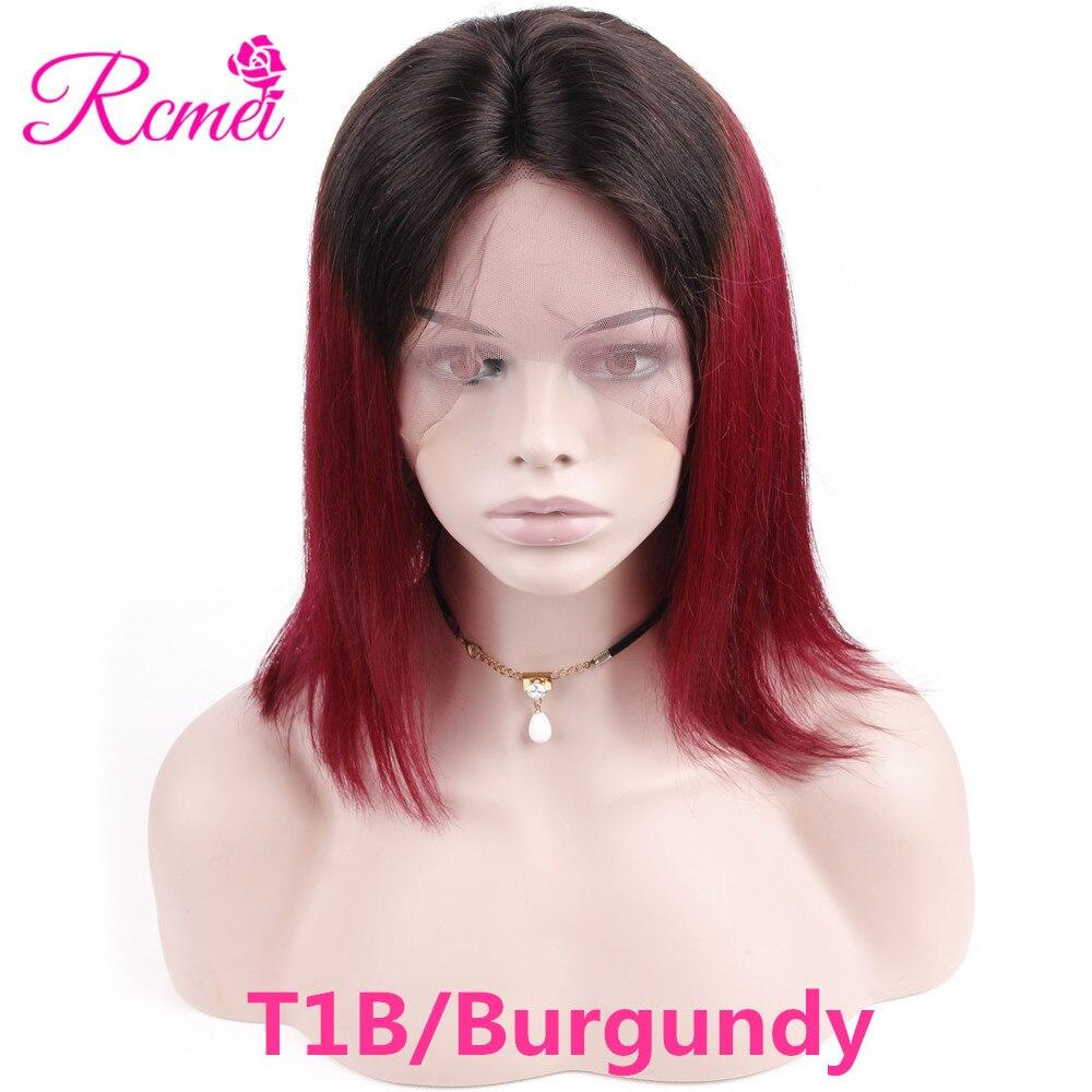 Colored T1B Burg Bob wigs