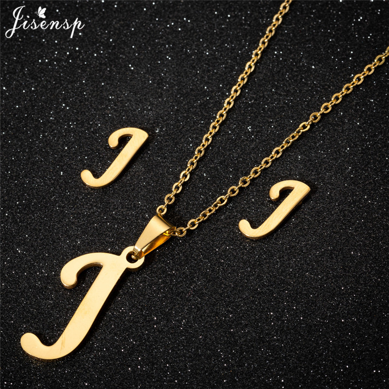 Jisensp Personalized A-Z Letter Alphabet Pendant Necklace Gold Chain Initial Necklaces Charms for Women Jewelry Dropshipping 21