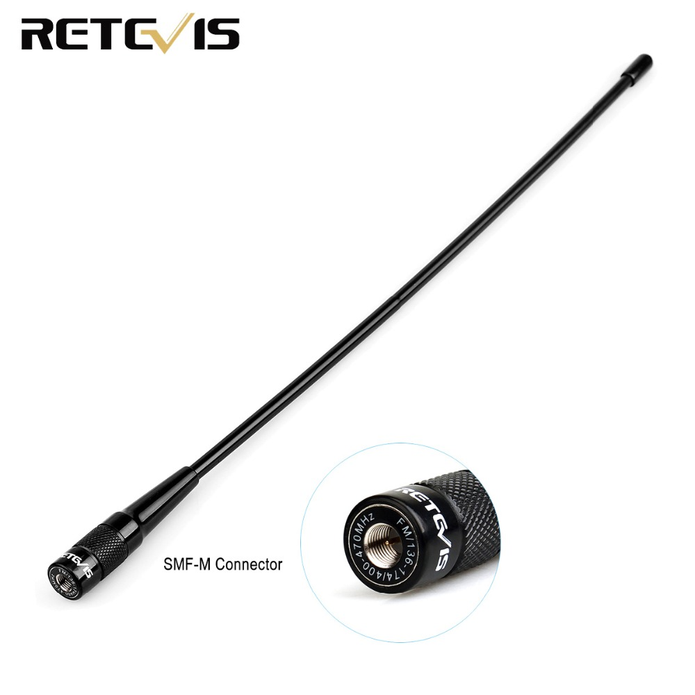 Retevis RHD-771 SMA-M Antenna Dual Band VHF/UHF For Yeasu Retevis RT3S RT3 RT1 RT8 For TYT MD-380 Ham Radio Walkie Talkie C9030M
