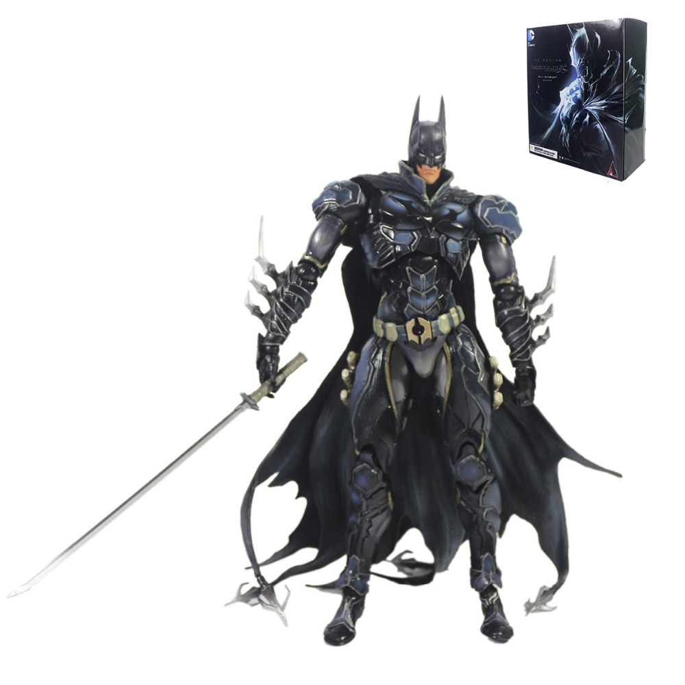 DC Comics Variant Play Arts Kai No.1 Batman Action Figure PAK001037 super street fighter iv akuma gouki white variant play arts kai action figure