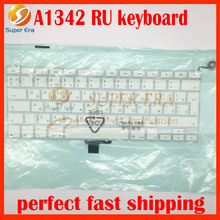 """NEW perfect Russia keyboard clavier for macbook 13.3"""" A1342 RU Russian keyboard replacement without backlight 2009 2010year"""
