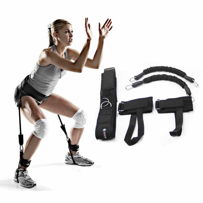 Multifunction Kinetic Speed Agility Training Leg Running Resistance Bands Tubes Exercise For Athletes Football Tennis Player