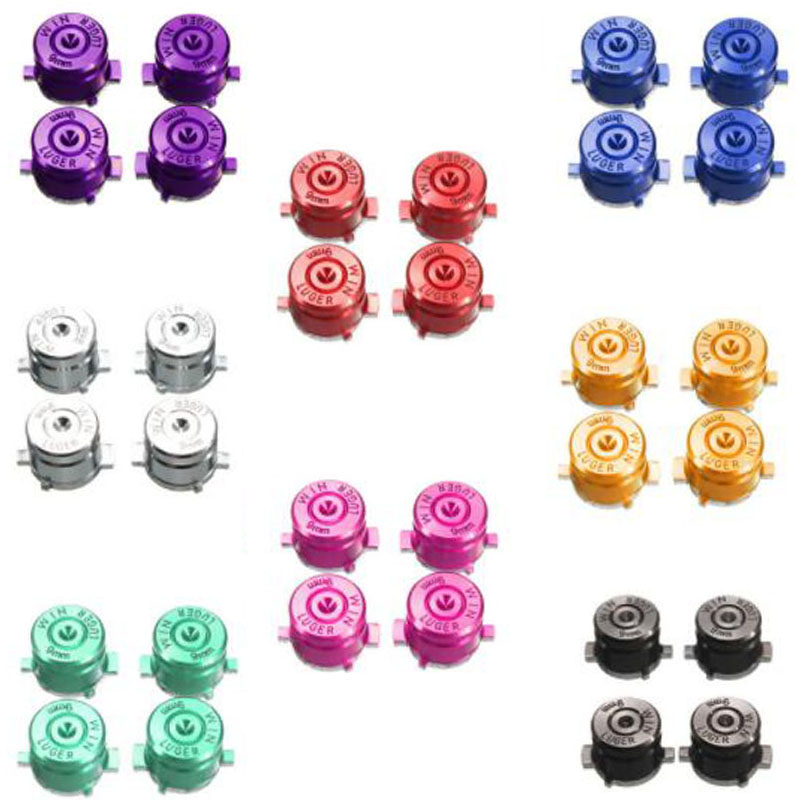 Metal Bullet ABXY Button Joystick Thumbstick Caps Replacement Part Sony Playstation Dualshock 3 4 PS3 PS4 DS4 Gamepad Controller