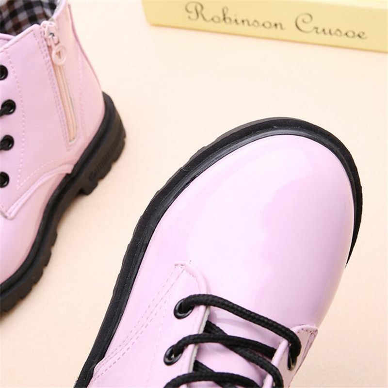 2019 En çok satan Çocuk cilt ayakkabı PU su geçirmez Erkek ve kız deri ayakkabı açık çocuklar sneakers Bebek Çocuk Kar Botları
