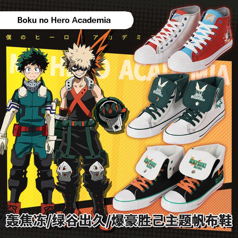 My Hero Academia Midoriya Izuku Deku and Shouto Todoroki Cosplay Canvas shoes