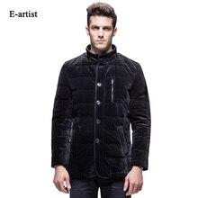 E-artist Men's Stand Velvet Duck Down Jackets Coat Male Business Casual Warm Parka Outwear Overcoat for Winter Plus Size 5XL Y36