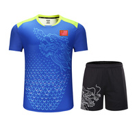 New CHINA flag Dragon table tennis sets Men or Women,ping pong tracksuit , sport sets table tennis clothes , table tennis suits