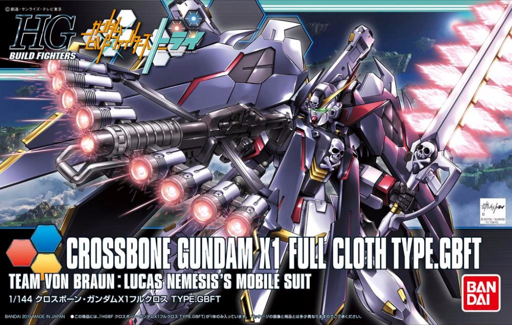 Bandai HG Build Fighters HGBF 035 1/144 Crossbone X1 FULL Ver Gundam XM-X1 Full Cloth Type GBFT Mobile Suit Assembly Model Kits