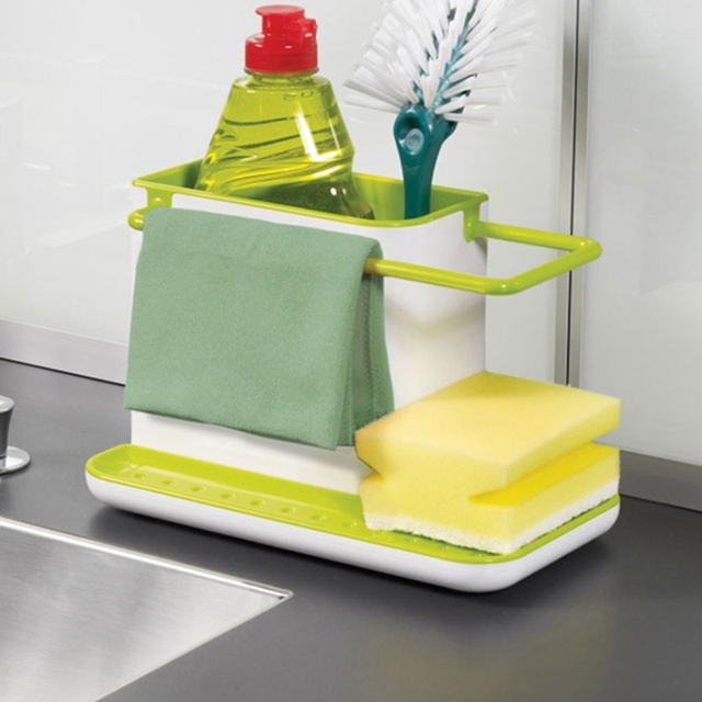 Wonderful 3 IN 1 Glove Storage Debris Rack Dishclout Storage Rack Kitchen Stands  Utensils Holder Sponge Kitchen
