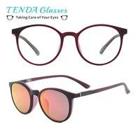 TR90 Lightweight Men Sun Glasses Polarized Clip On Sunglasses Driving Glasses Gafas Del Sol