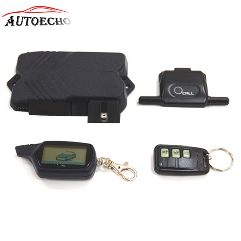 Russian Version Accessories+Engine Autostart LCD Remote Control+Tamarack Key Case Two Way Car Alarm System Twage For Starline B9