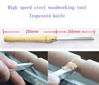 HSS Lathe Chisel Woodturning Trapezoid Knife Tools For Carving Wood Wood Chisel